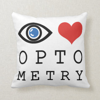 Eye Love Optometry Throw Pillows