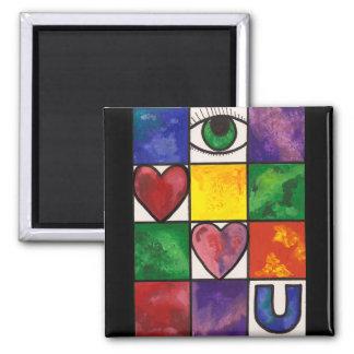 Eye Love U 2 Inch Square Magnet