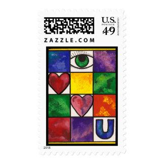 Eye Love U Postage