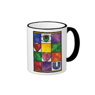 Eye Love U Ringer Mug