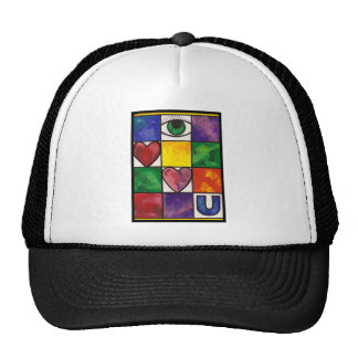Eye Love U Trucker Hat