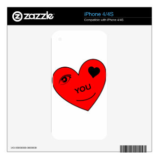 Eye Love You iPhone 4S Decals