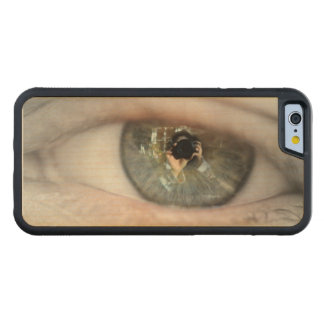 Eye-Macro Carved Maple iPhone 6 Bumper Case
