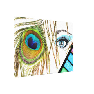 Eye Makeup Beauty Canvas Print