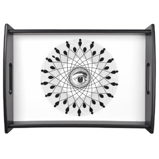 Eye Mandala Serving Tray