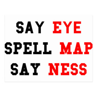 Eye Map Ness Postcard