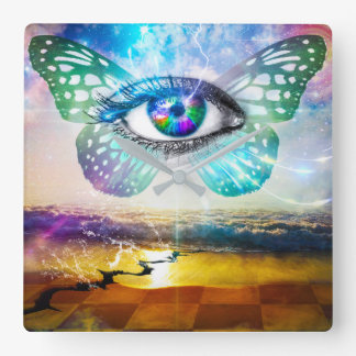 Eye Mind Square Wall Clock