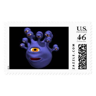 Eye Monster Postage Stamps
