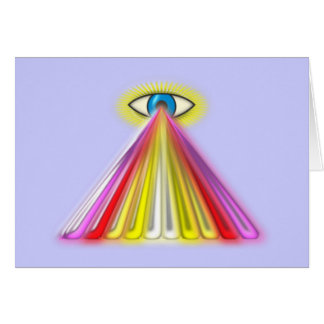Eye multicolored jets eye colorful rays greeting card