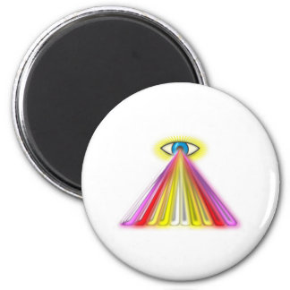 Eye multicolored jets eye colorful rays magnet