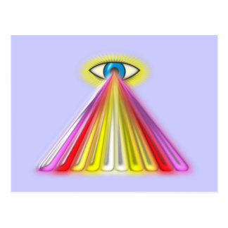 Eye multicolored jets eye colorful rays post cards