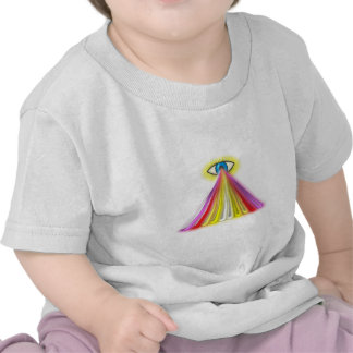 Eye multicolored jets eye colorful rays tee shirts