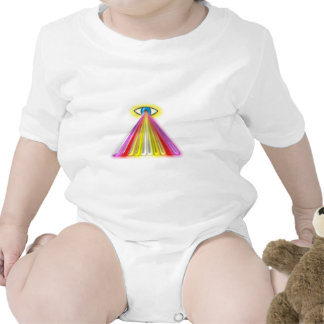 Eye multicolored jets eye colorful rays romper
