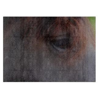 Eye Of A Black Horse Animal Cutting Board