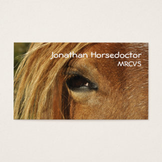 Eye of a horse business card