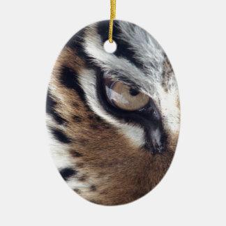 Eye of a Tiger Ceramic Ornament