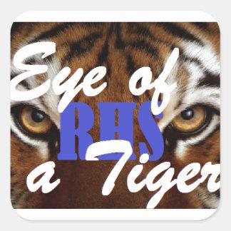 Eye of a Tiger RHS Square Sticker