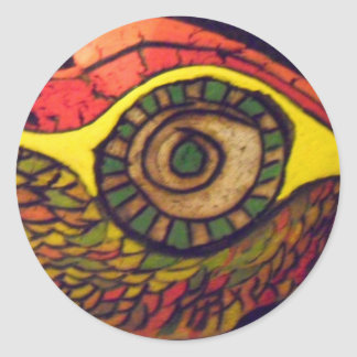 Eye of an Eagle Round Stickers
