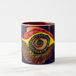 Eye of an Eagle Two-Tone Coffee Mug