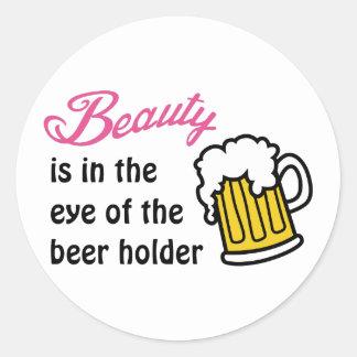 Eye Of Beer Holder Classic Round Sticker