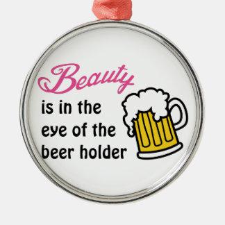 Eye Of Beer Holder Metal Ornament