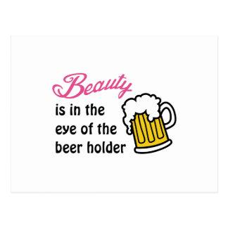 Eye Of Beer Holder Postcard