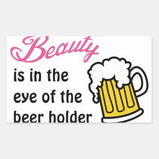 Eye Of Beer Holder Rectangular Sticker