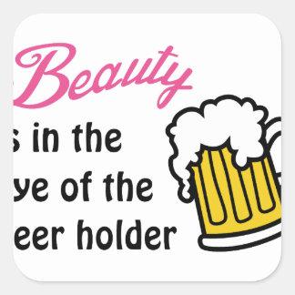 Eye Of Beer Holder Square Sticker
