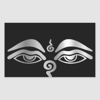 Eye of Buddha- Buddhism Symbol Rectangular Sticker