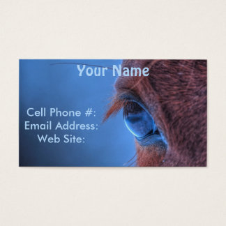 Eye of Chestnut Horse Equine Photo Business Card