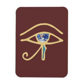 Eye Of Earth gold Magnet