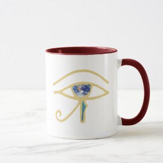 Eye Of Earth gold Mug