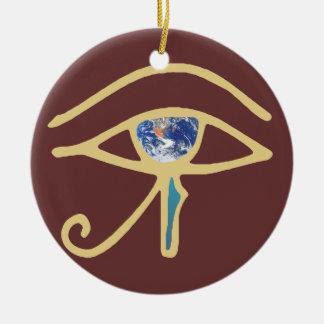 Eye Of Earth gold Ornament