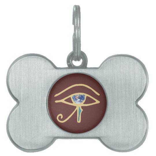 Eye Of Earth gold Pet ID Tag