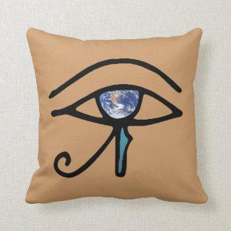 Eye Of Earth Throw Pillow