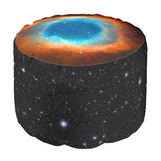 Eye of God Helix Nebula, Galaxies and Stars Pouf