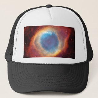 Eye of God Helix Nebula Red Blue Space Photo Trucker Hat