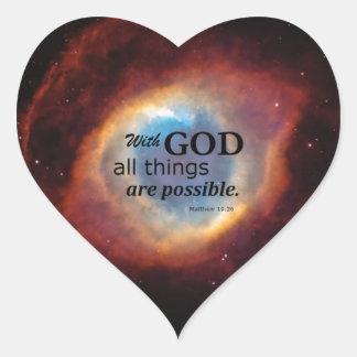 Eye of God Heart Sticker