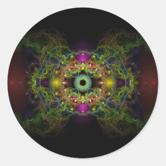 Eye of God - Vesica Piscis Classic Round Sticker