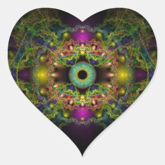 Eye of God - Vesica Piscis Heart Sticker