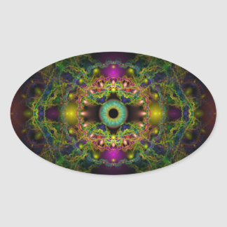 Eye of God - Vesica Piscis Oval Sticker