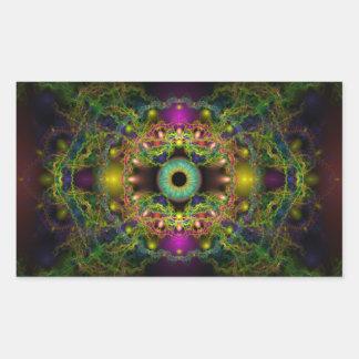 Eye of God - Vesica Piscis Rectangular Sticker