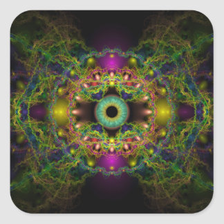 Eye of God - Vesica Piscis Square Sticker