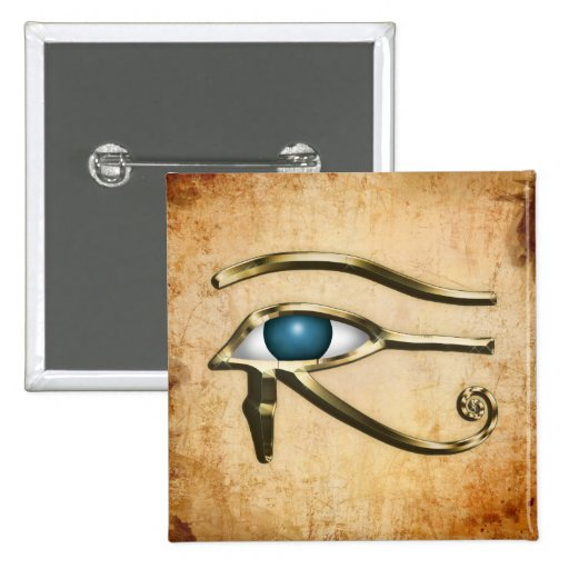 Eye Of Horus 2 Inch Square Button