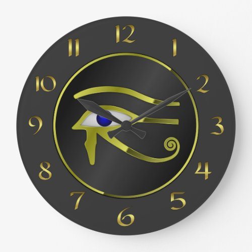 Eye of Horus Ancient Egyptian Art Wall Clock