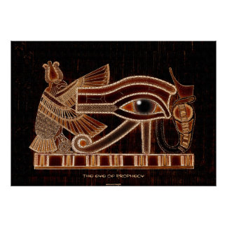 Eye of Horus Ancient Egyptian Symbol of Prophecy Poster