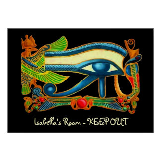 Eye Of Horus bedroom door poster