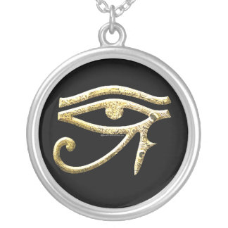 Eye of Horus Dark Silver Plated Necklace