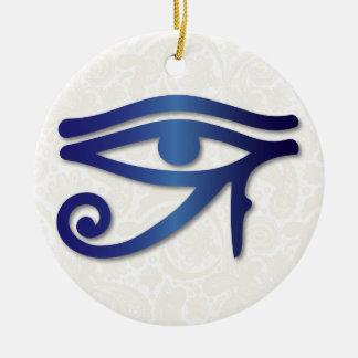 Eye Of Horus - Deep Blue 1 - Ornament