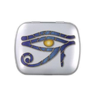 Eye Of Horus - Deep Blue 2 - Jelly Belly Tin